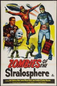 Vintage movie poster, Zombies of the stratosphere